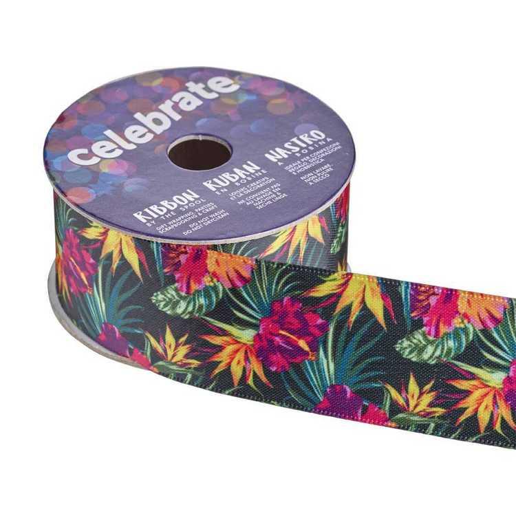 Celebrate Satin Hibiscus 28mm Ribbon