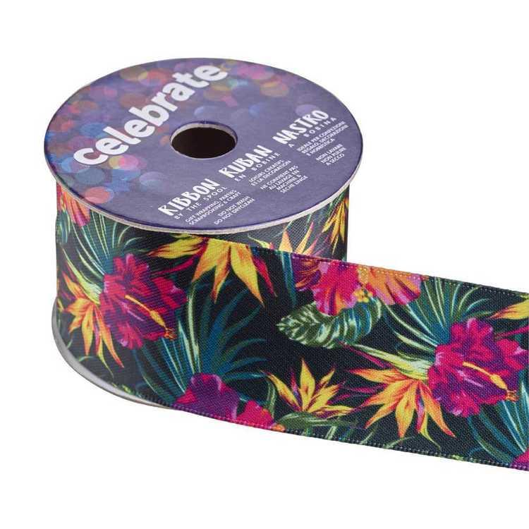 Celebrate Satin Hibiscus 38mm Ribbon