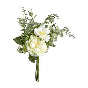 Wild Rose and Fern Bouquet