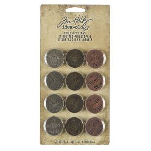 Tim Holtz Philosophy Tags 12 Pack