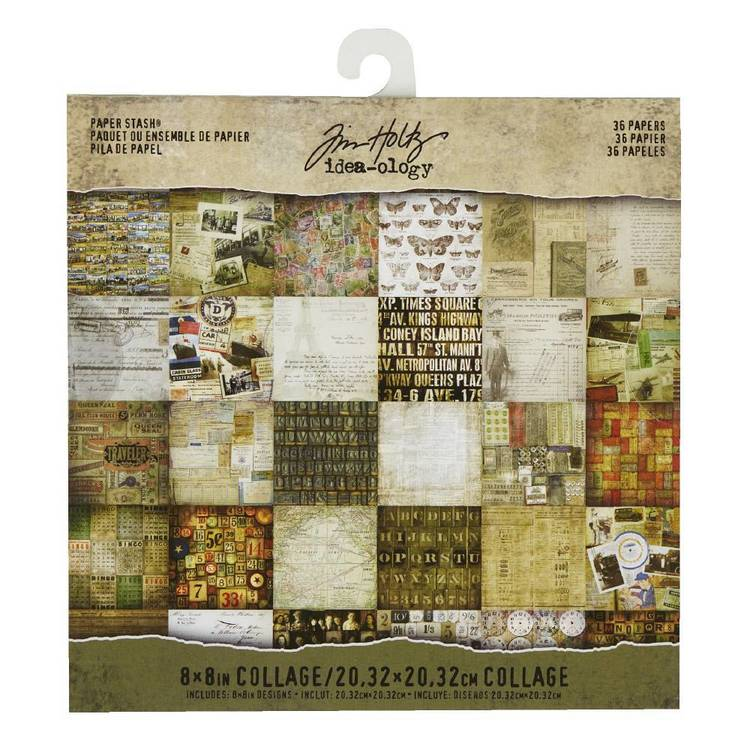 Tim Holtz Mini Stash, Collage 36 Sheets