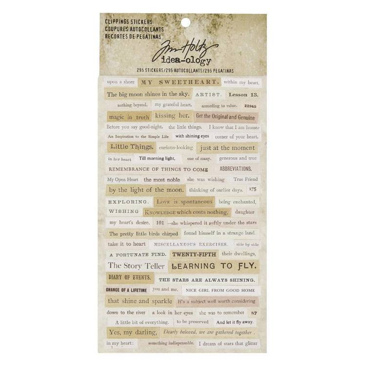 Tim Holtz Clippings Stickers