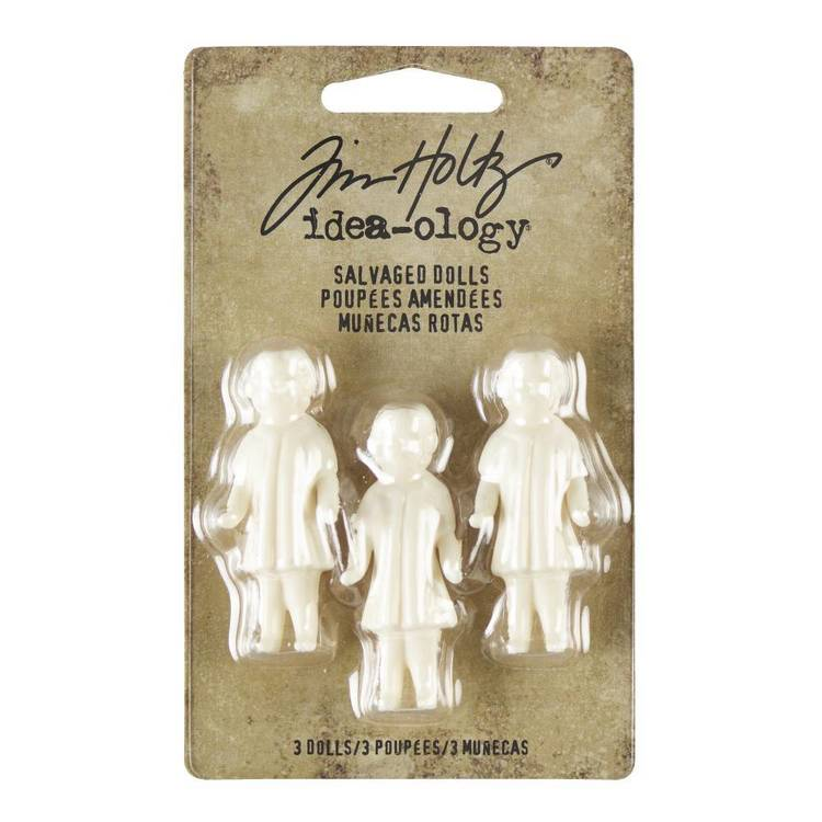 Tim Holtz Salvaged Dolls 3 Pack
