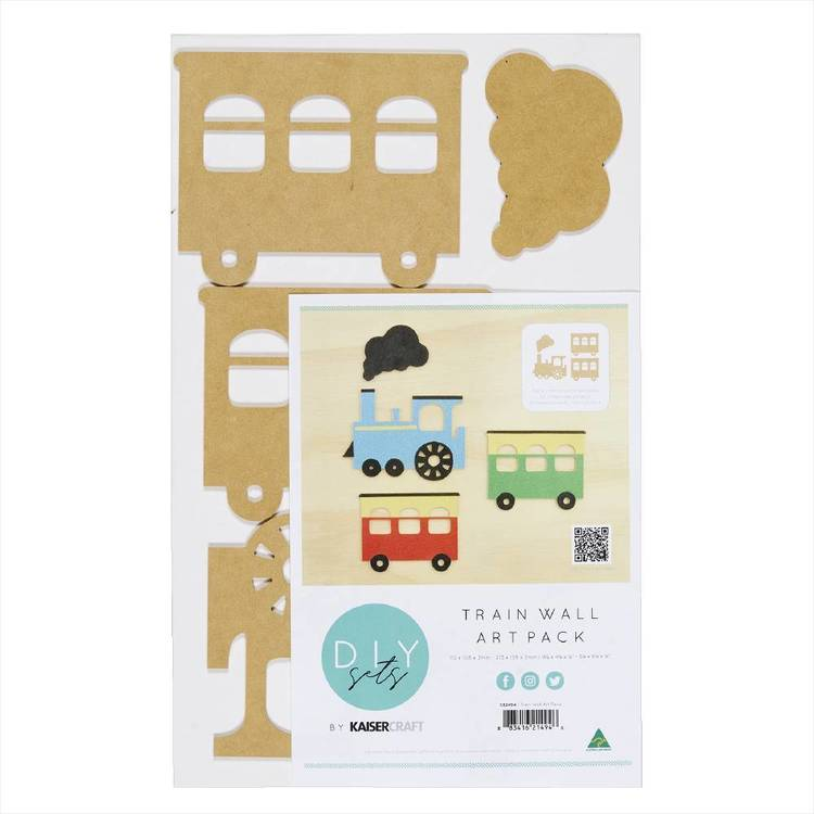 Kaisercraft Train Wall Art Pack Brown