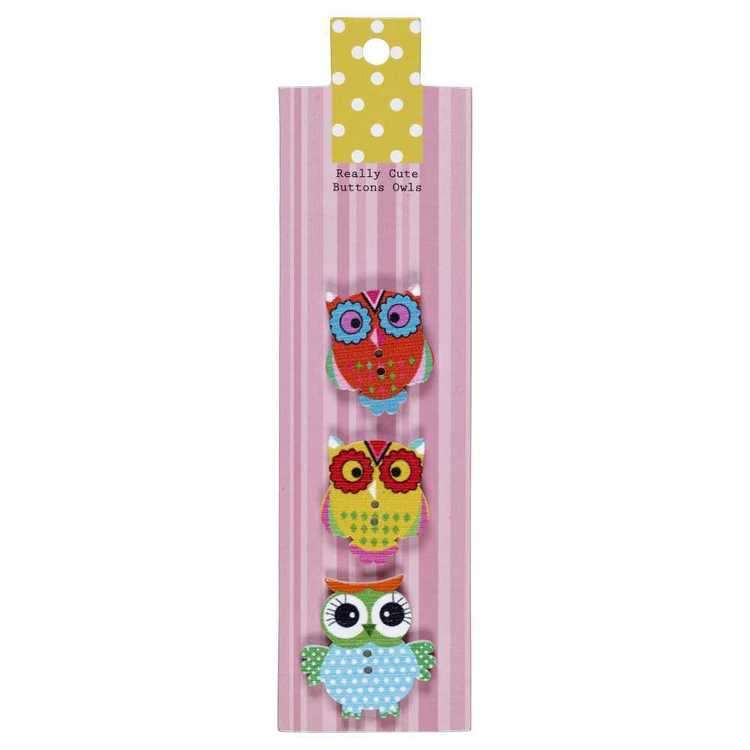 Really Cute Buttons Owls