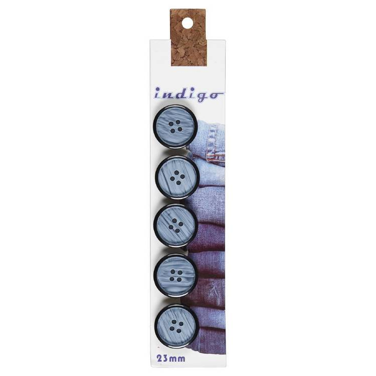 Indigo Buttons 23mm Style 2