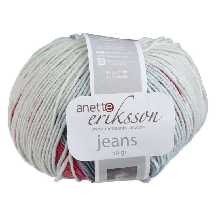 Anette Eriksson Jeans Crazy Yarn 8205 Denim Mix 50 g