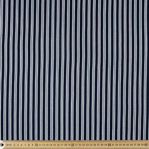 Printed Rayon Double Stripe Fabric