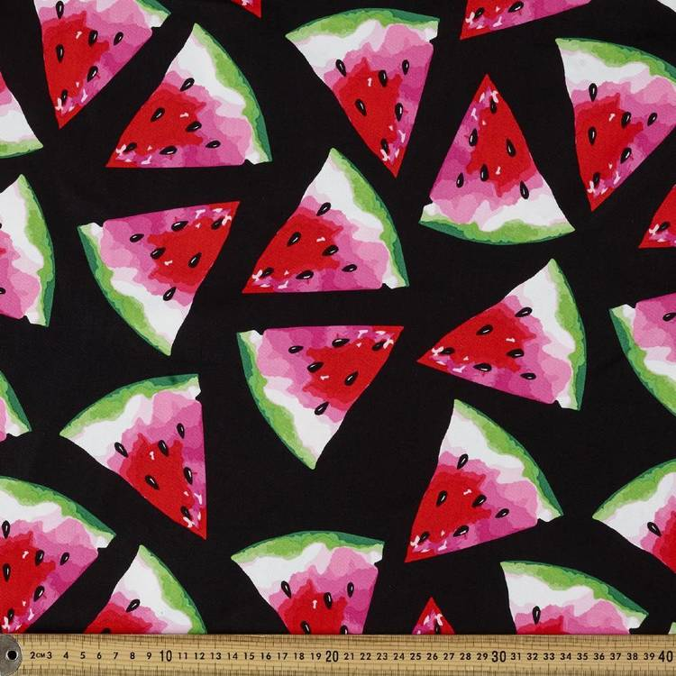 Montreaux Drill Watermelon Wedges Fabric
