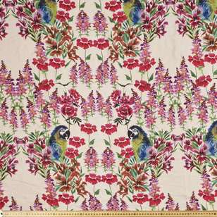 Parrot Printed Georgette Fabric