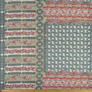 Printed Georgette Stripe Tile 148 cm Fabric