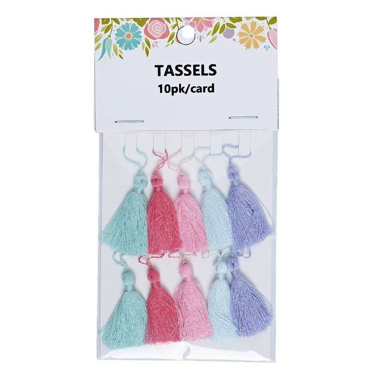 Semco Tassels 10 Pack Multi-coloured Multicoloured