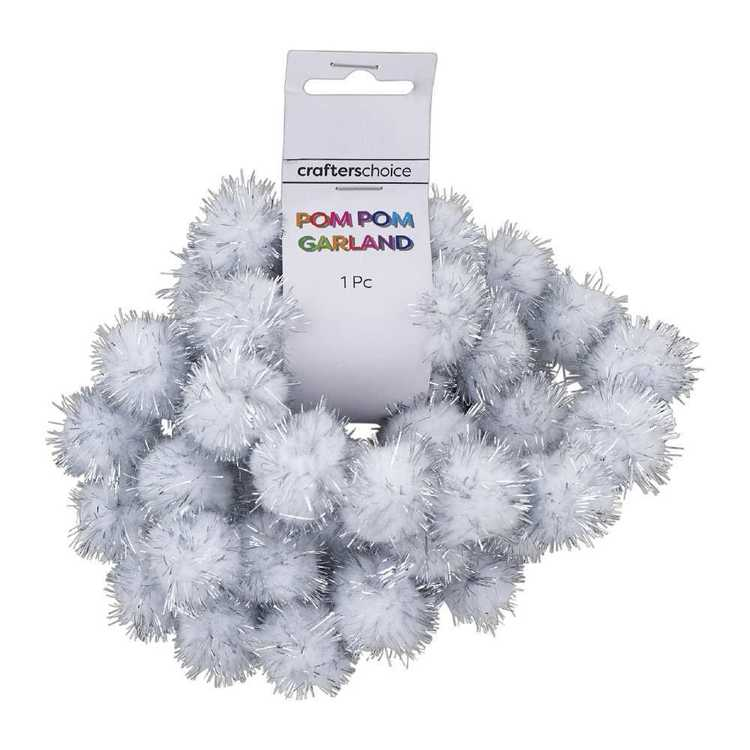 Crafters Choice Pom Pom Glitter Garland