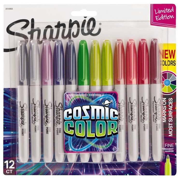 Sharpie Cosmic Colour 12 Pack Multicoloured