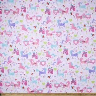 Castles & Unicorns Printed Poplin Fabric