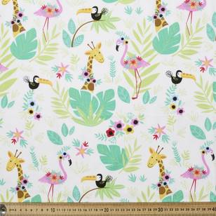 Flamingo & Friends Printed Poplin Fabric