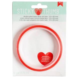 American Crafts Sticky Thumb 1/2 Red Tape