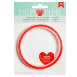 American Crafts Sticky Thumb 1/4 Red Tape