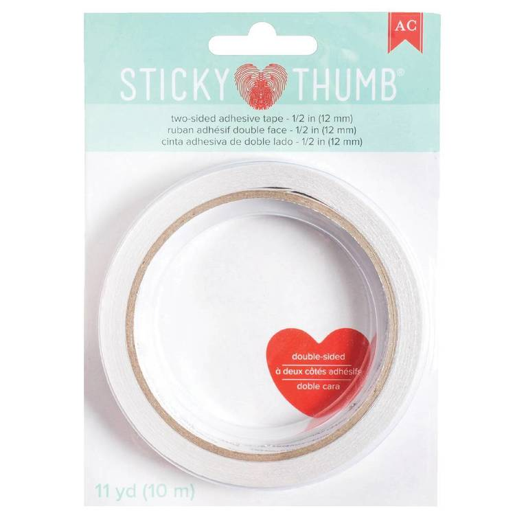 American Crafts Sticky Thumb 1/2 Inch Double-Sided Tape