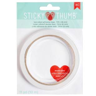 American Crafts Sticky Thumb 1/4 Inch Double-Sided Tape