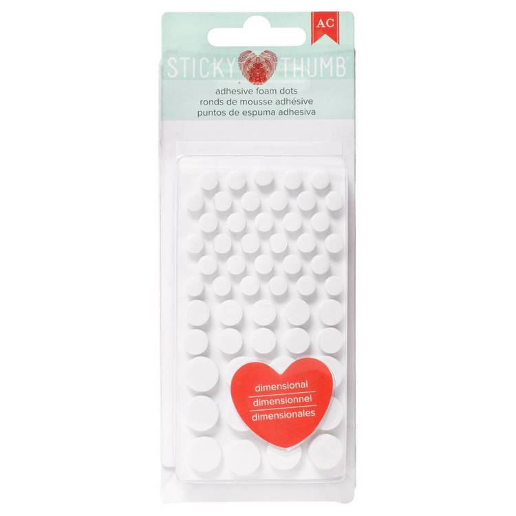 American Crafts Sticky Thumb White Adhesive Foam Dots