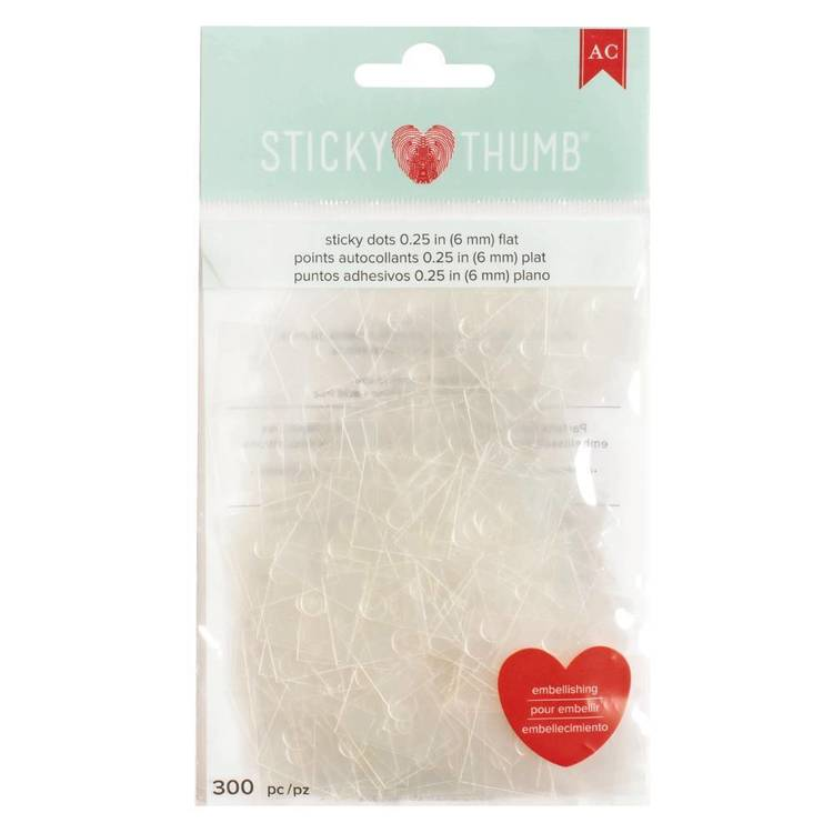American Crafts Sticky Thumb 1/2 Flat Adhesive Dots