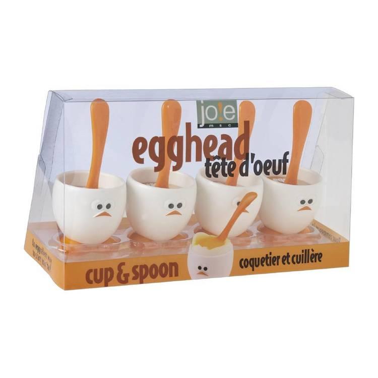 MSC Egghead Egg Cup & Spoon Set of 4