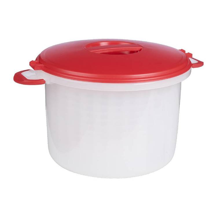 Progressive Rice & Pasta Cooker Set Red & Clear