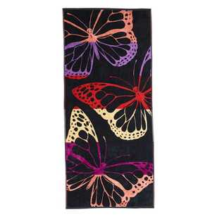 Canningvale Lux Velour Butterfly Beach Towel