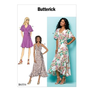 Butterick B6554 Misses' Wrap Dress