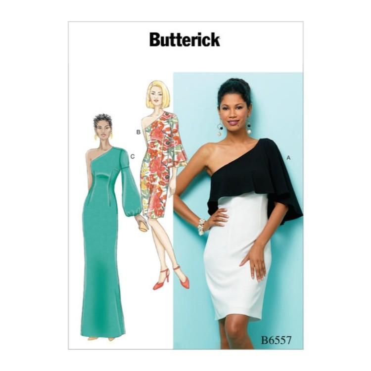 Butterick Pattern B6557 Misses' One Shoulder Dress