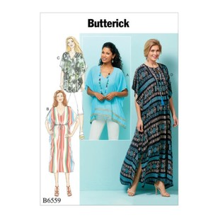 Butterick Pattern B6559 Misses' Top, Tunic And Caftan