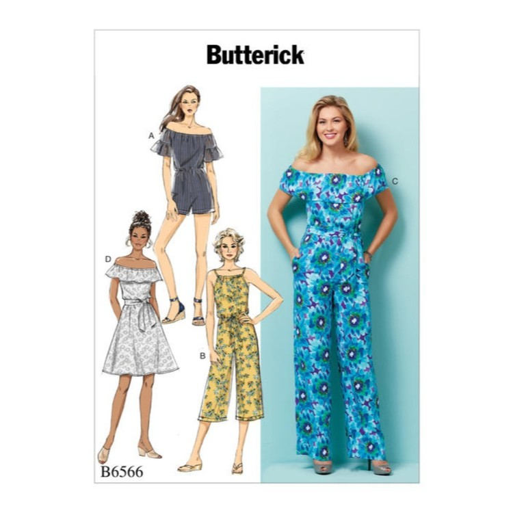 Butterick Pattern B6566 Misses' & Misses' Petite Dress, Romper, Jumpsuit And Sash