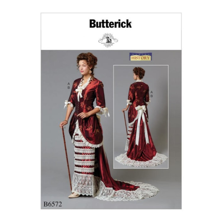 Butterick Pattern B6572 Nancy Farris-Thee Making History Misses' Jacket And Skirt With Train