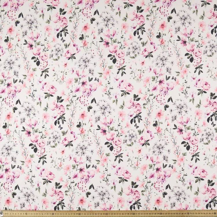 Printed Rayon Forget Me Not Fabric