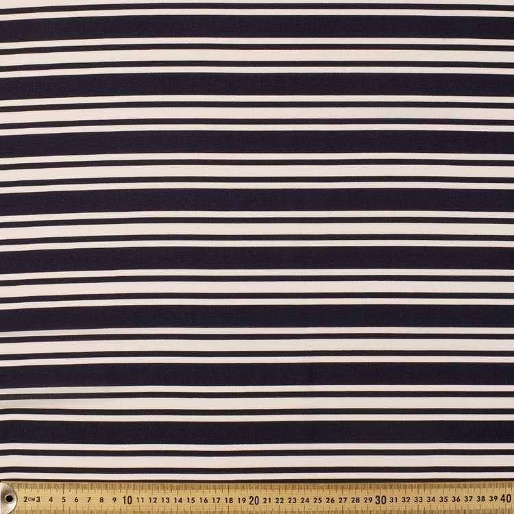 Printed Georgette Stripe 148 cm Fabric