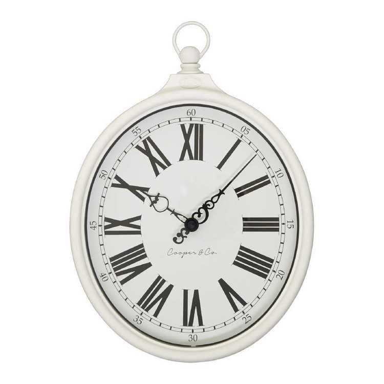 Cooper & Co Traditional Round Clock White