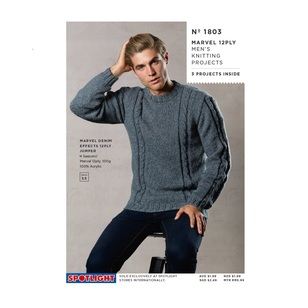 Spotlight Marvel 12Ply Mens Knitting 1803