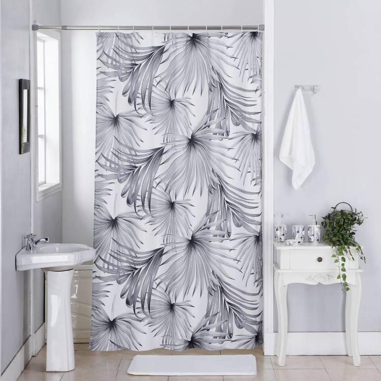 Cloud 9 Palm Leaf Shower Curtain