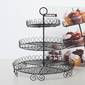Little Homes 3 Tier Metal Cake Stand Black