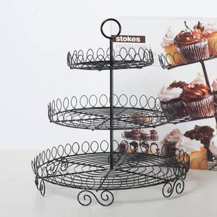 Little Homes 3 Tier Metal Cake Stand