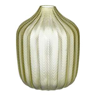 Living Space Medium Feathered Glass Vase