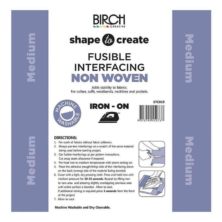Shape To Create 90 cm Non Woven Iron On Medium Interfacing