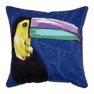 Ombre Home Neon Tropics Talulah Toucan Cushion