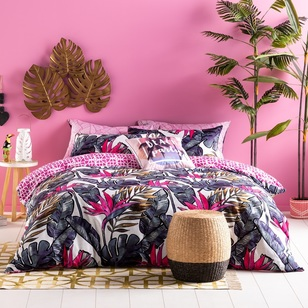 Ombre Home Neon Tropics Layne Quilt Cover Set