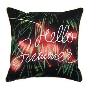 Ombre Home Neon Tropics Layne Hello Cushion