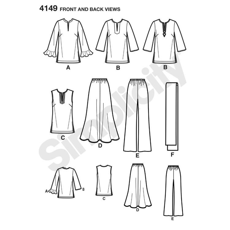 Simplicity Pattern 4149 Misses' & Plus Size Sportswear