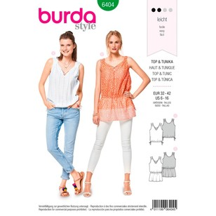 Burda Pattern B6404 Misses' V-Neck Tops