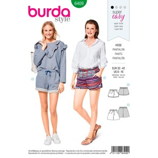 Burda Pattern B6409 Misses' Shorts With Pockets