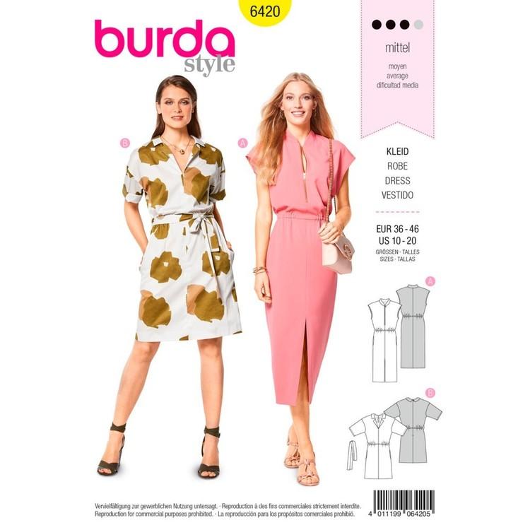 Burda Pattern B6420 Misses' Sleeveless Dresses